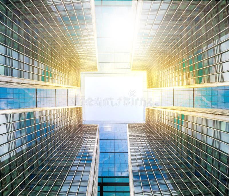 Абстрактная предпосылка дела сделанная деталей корпоративных зданий стоковая фотография rf