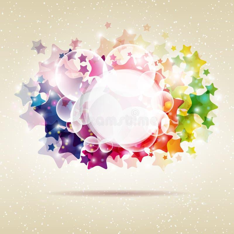 Абстрактная предпосылка звезды. иллюстрация штока