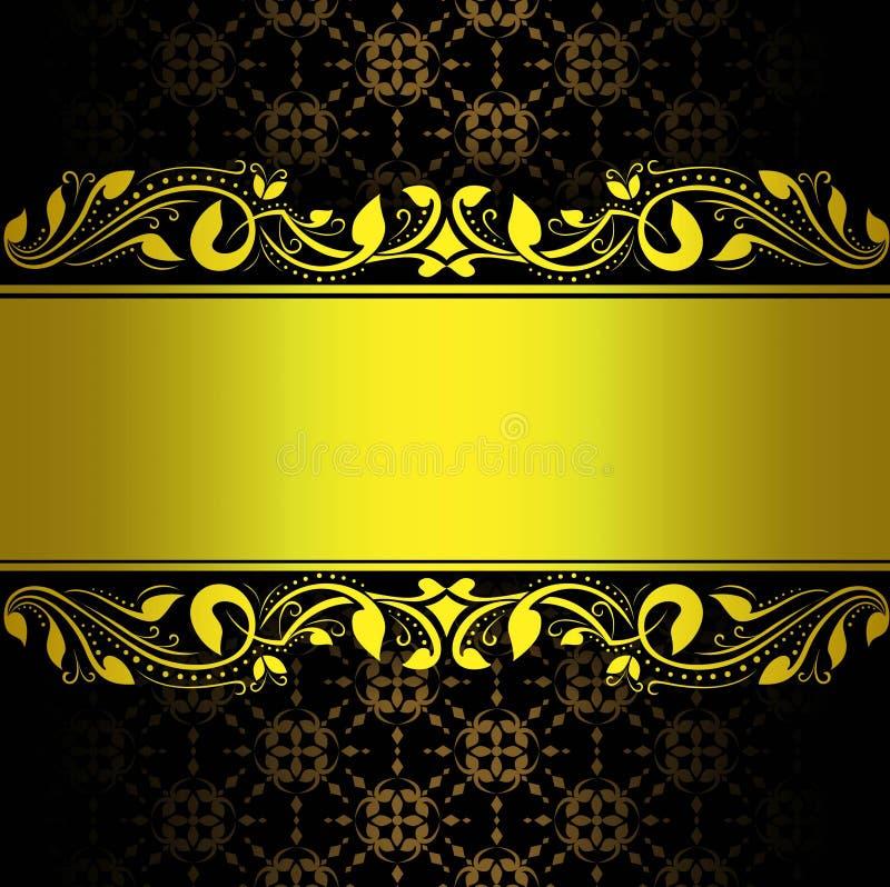 Абстрактная предпосылка золота флористическая иллюстрация вектора