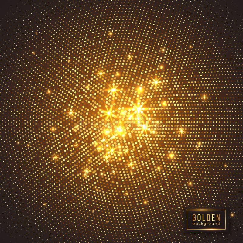 абстрактная предпосылка золотистая иллюстрация штока