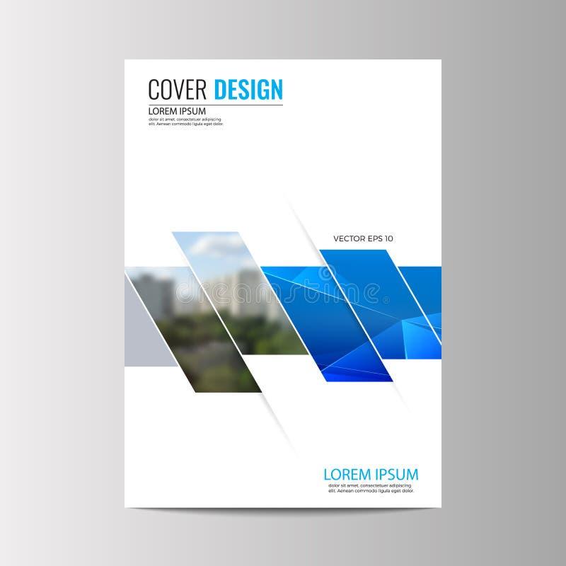 Абстрактная предпосылка дизайна рогульки шаблон брошюры иллюстрация вектора