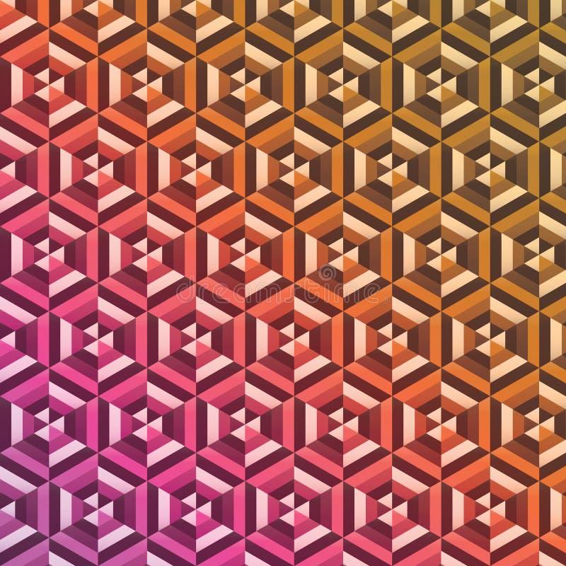 Абстрактная предпосылка картины шестиугольника иллюстрация вектора