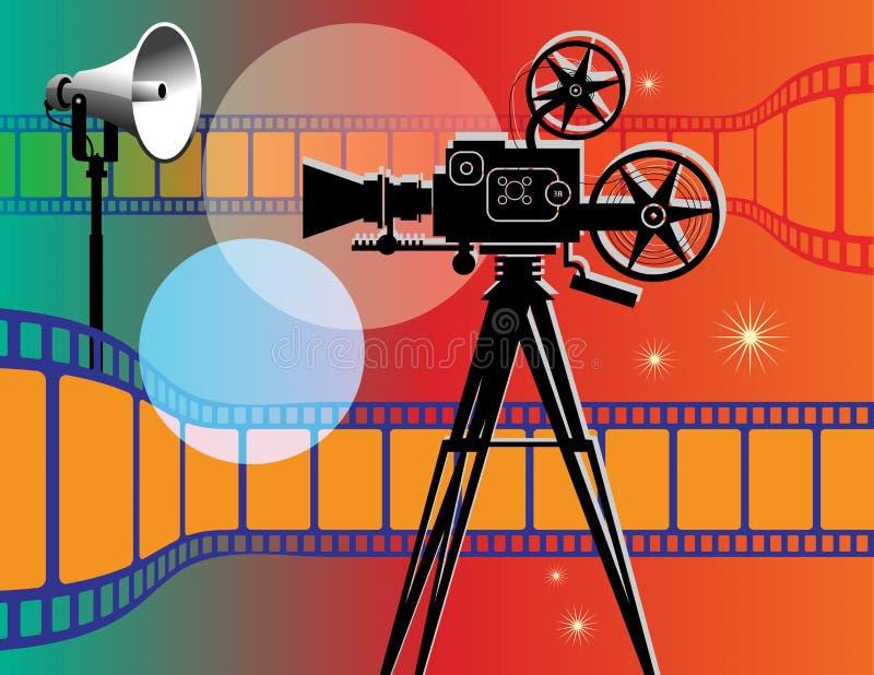 Абстрактная предпосылка кино иллюстрация вектора