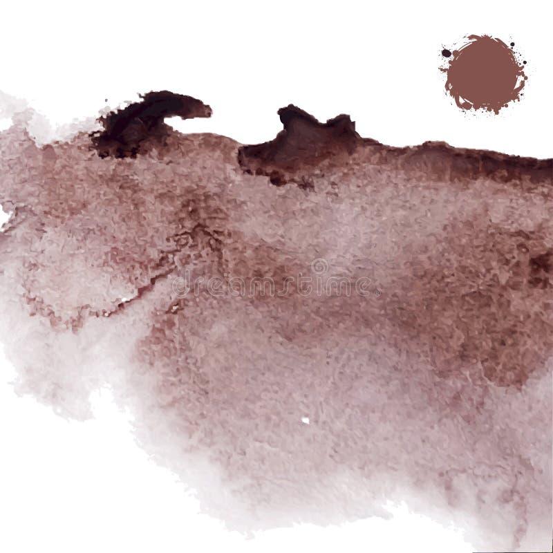 Абстрактная предпосылка коричневого цвета grunge акварели иллюстрация штока