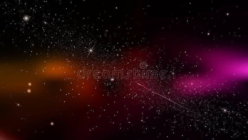 Абстрактная предпосылка космос с межзвёздным облаком звезд вектор иллюстрация штока