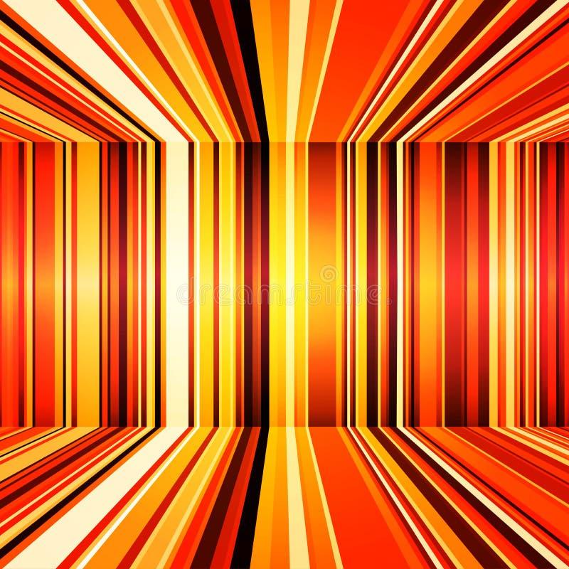Абстрактная предпосылка красного цвета, оранжевых и желтых ретро нашивок цветастая иллюстрация штока