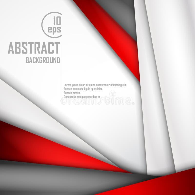 Абстрактная предпосылка красной, белизны и черноты иллюстрация вектора