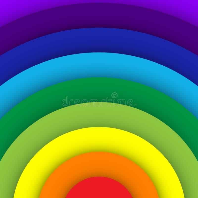 Абстрактная предпосылка кривой радуги иллюстрация вектора