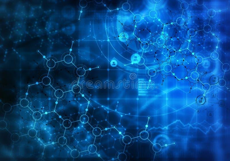 Download абстрактная предпосылка медицинская Мультимедиа Стоковое Фото - изображение насчитывающей биомолекулы, химия: 81807746