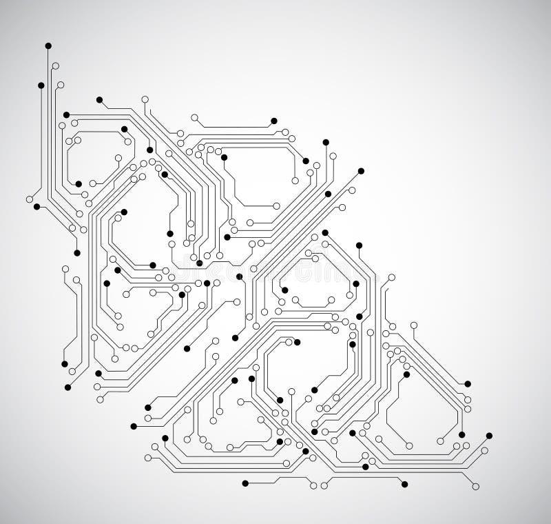 Абстрактная предпосылка монтажной платы - вектор бесплатная иллюстрация