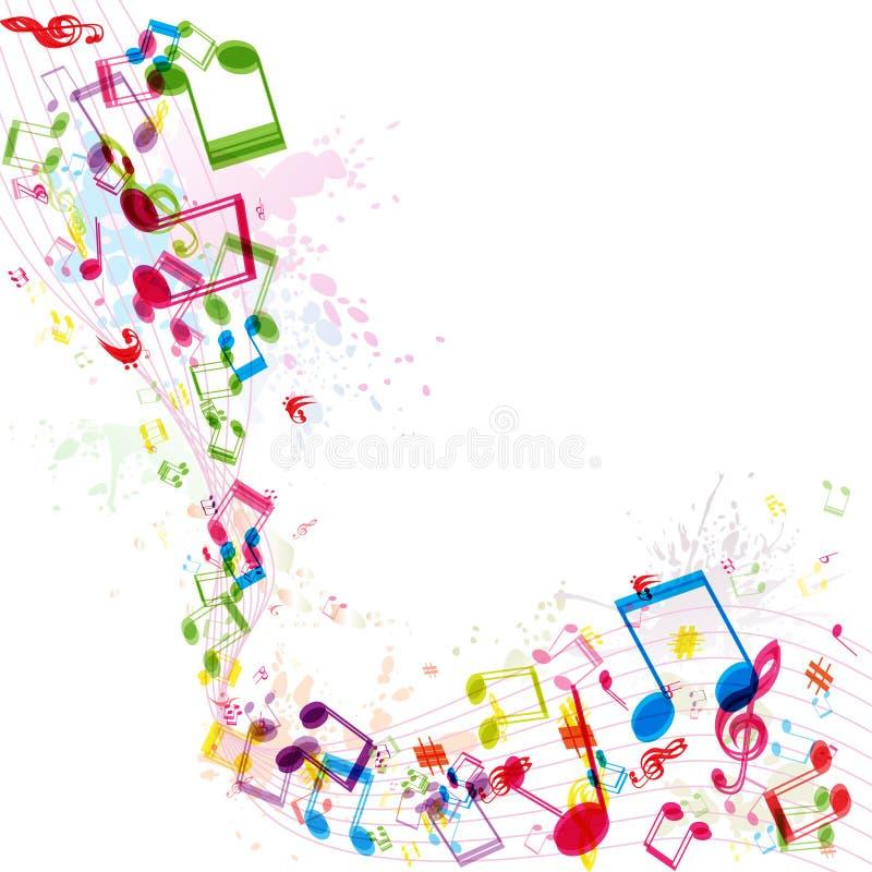 Абстрактная предпосылка музыки, иллюстрация штока