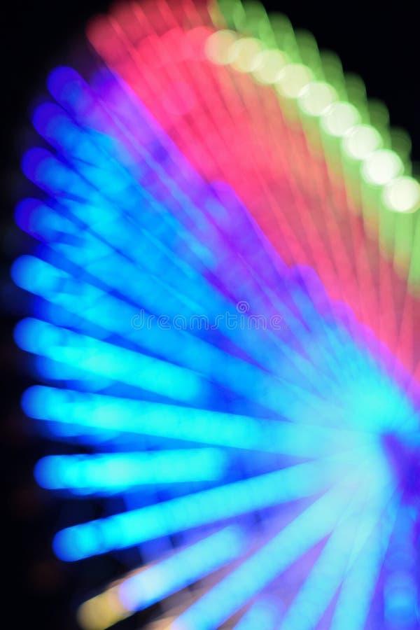 Абстрактная предпосылка нерезкости большого колеса Ferris стоковая фотография