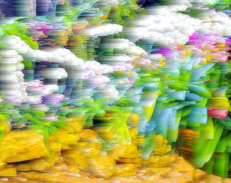 Абстрактная предпосылка нерезкости и мягкая природа стоковая фотография rf