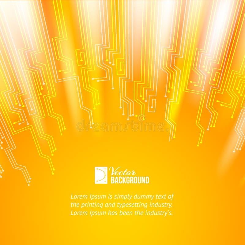 Абстрактная предпосылка оранжевых светов. бесплатная иллюстрация
