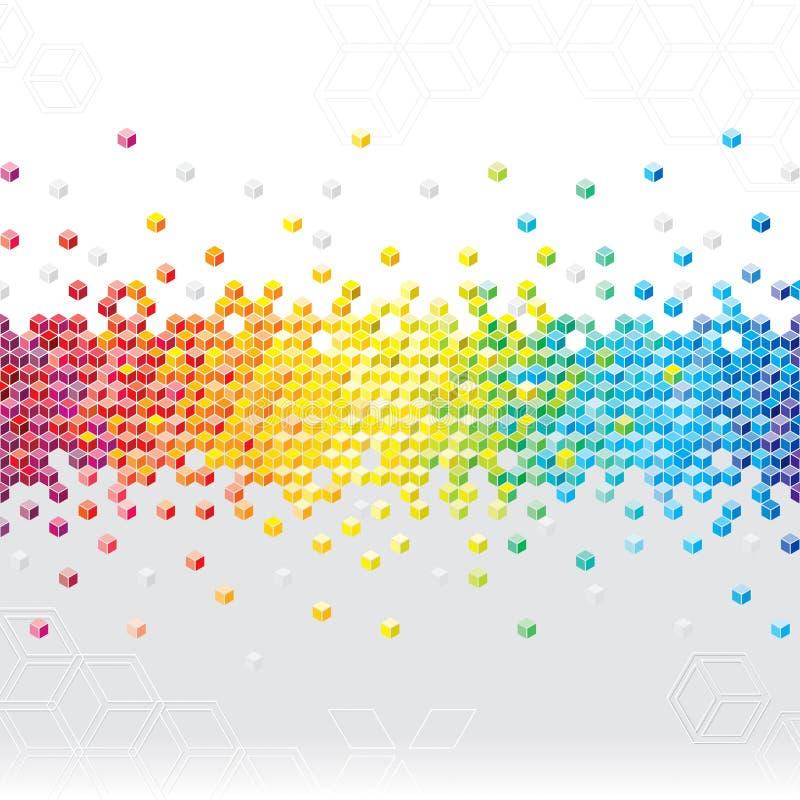 Абстрактная предпосылка пиксела иллюстрация вектора