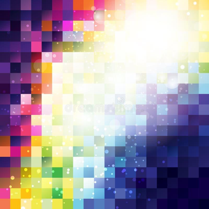 Абстрактная предпосылка пиксела иллюстрация штока