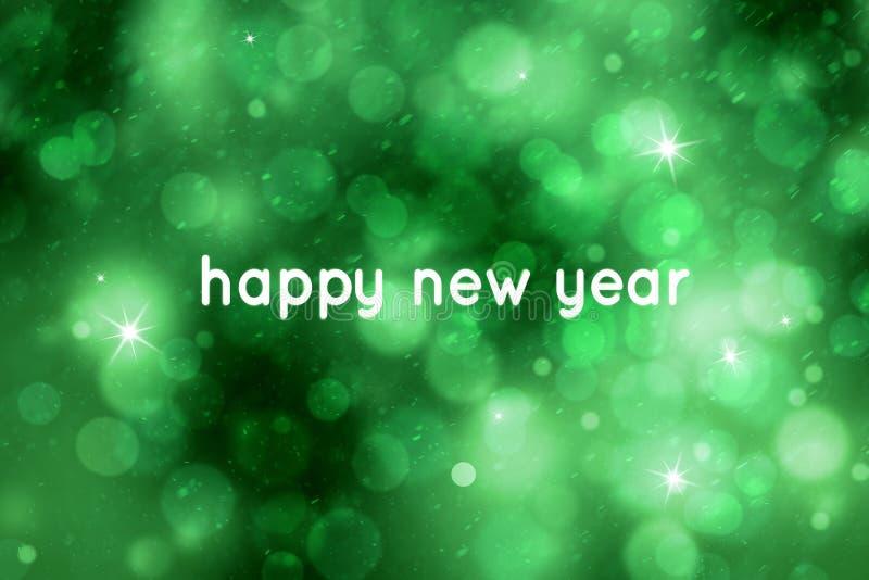 Абстрактная предпосылка праздника Нового Года bokeh зеленого цвета стоковое фото