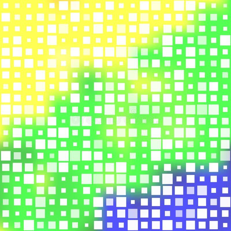 Абстрактная предпосылка придает квадратную форму мозаике иллюстрация штока