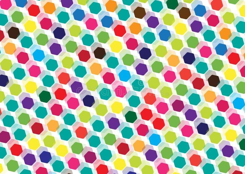 Абстрактная предпосылка плиток мозаики бесплатная иллюстрация