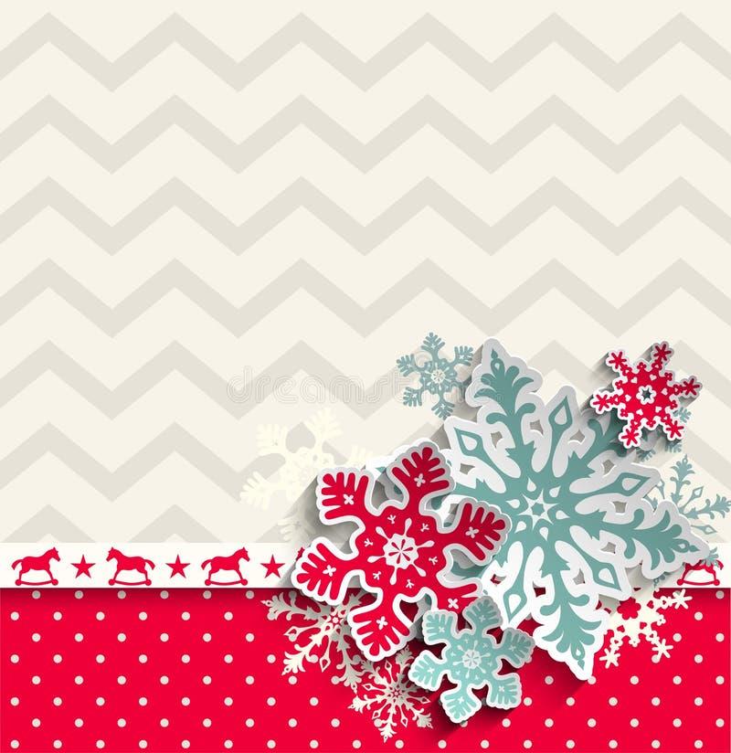 Абстрактная предпосылка рождества с декоративной бесплатная иллюстрация