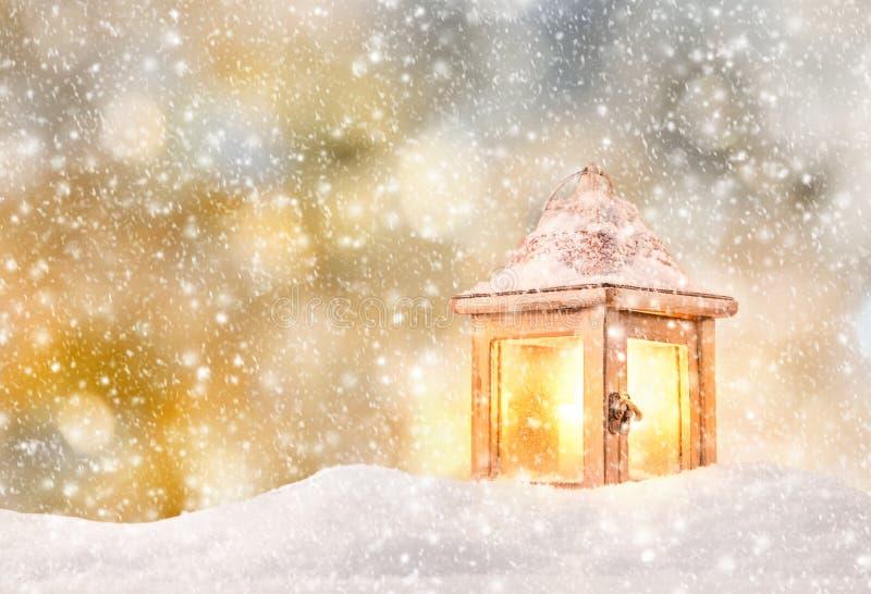 Абстрактная предпосылка рождества с фонариком бесплатная иллюстрация