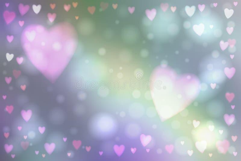 Абстрактная предпосылка светов сердец иллюстрация вектора