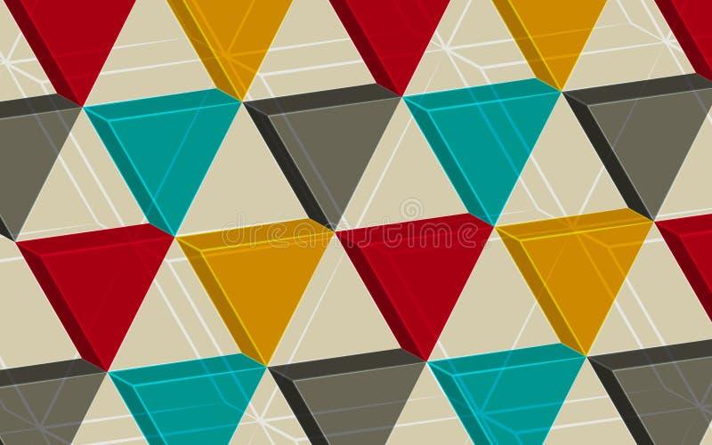 Абстрактная предпосылка состоя из треугольников иллюстрация штока