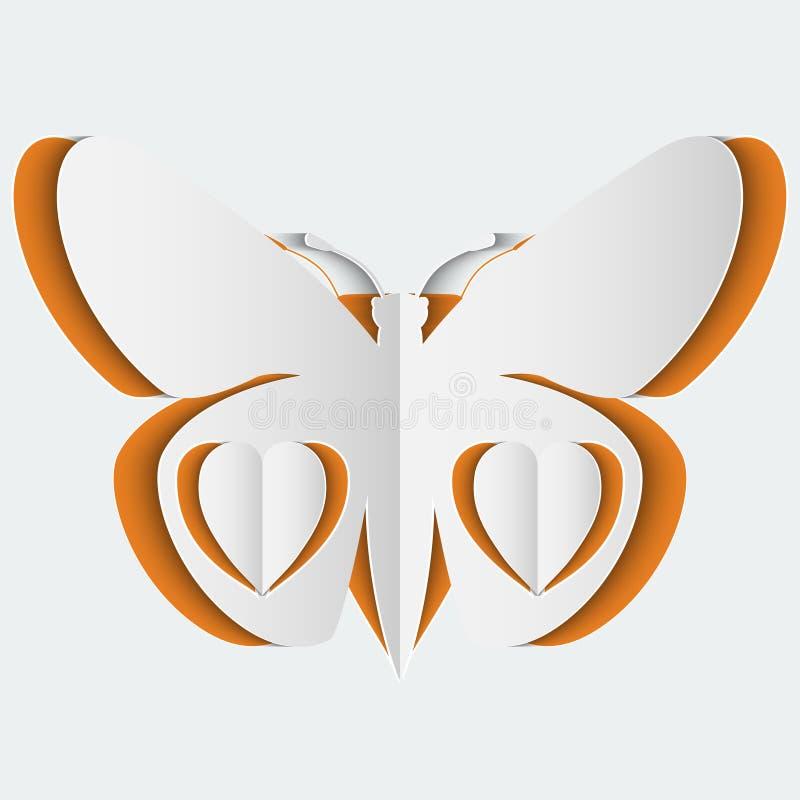 Download Абстрактная предпосылка с бабочкой белой бумаги Иллюстрация вектора - иллюстрации насчитывающей минимально, утло: 40584164