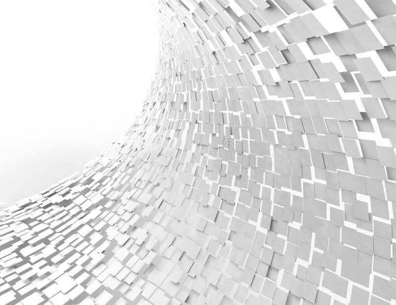 Абстрактная предпосылка с белыми квадратами бесплатная иллюстрация