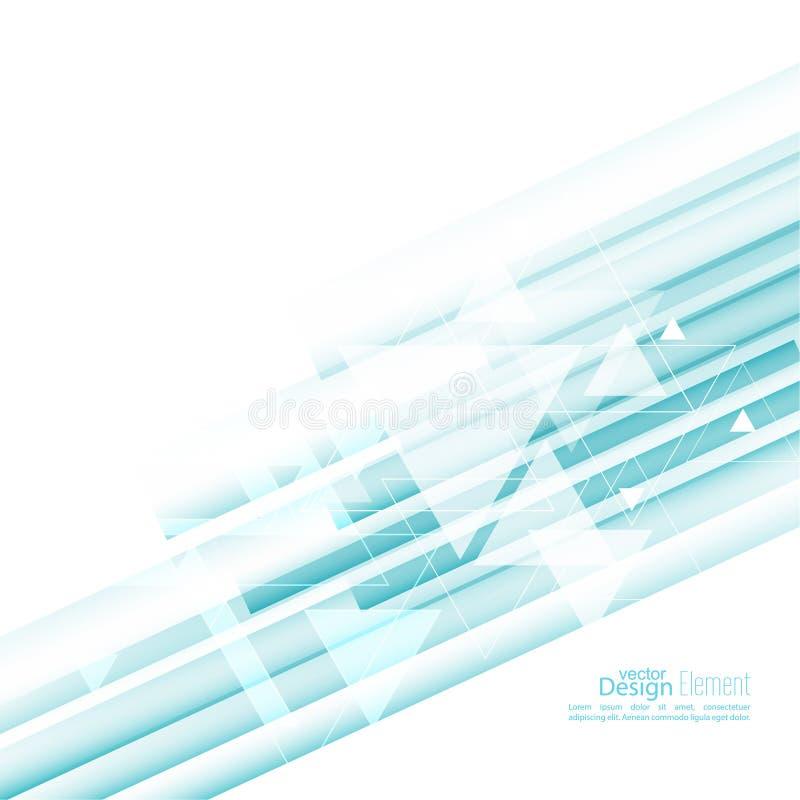 Абстрактная предпосылка с голубыми нашивками бесплатная иллюстрация