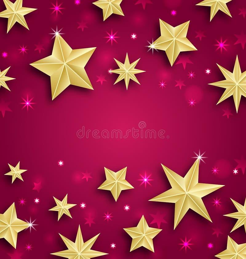Абстрактная предпосылка сделанная из золотых звезд иллюстрация штока