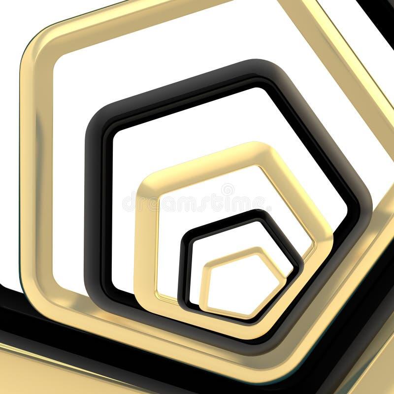 Абстрактная предпосылка сделанная пентагонов иллюстрация вектора