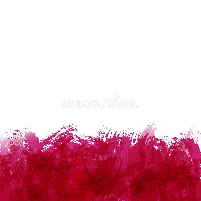 Абстрактная предпосылка с пятнами краски, щетка штрихует и закрывает иллюстрация штока