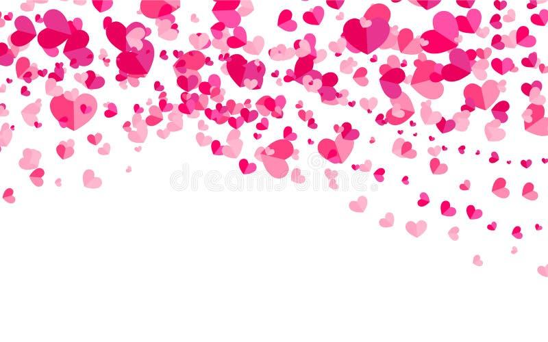 Download Абстрактная предпосылка с сердцами Иллюстрация вектора - иллюстрации насчитывающей карточка, влюбленность: 81814754
