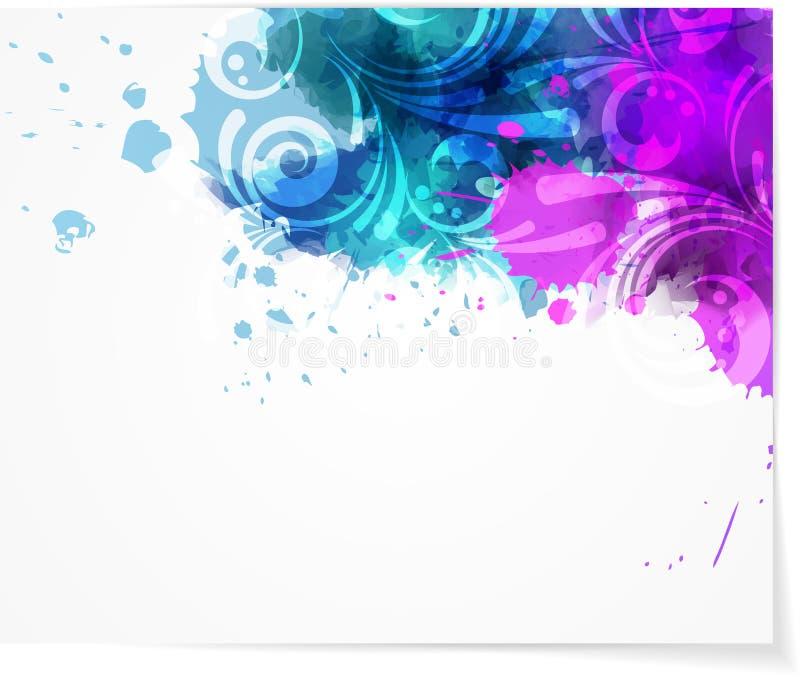 Абстрактная предпосылка с современным swirly дизайном иллюстрация вектора