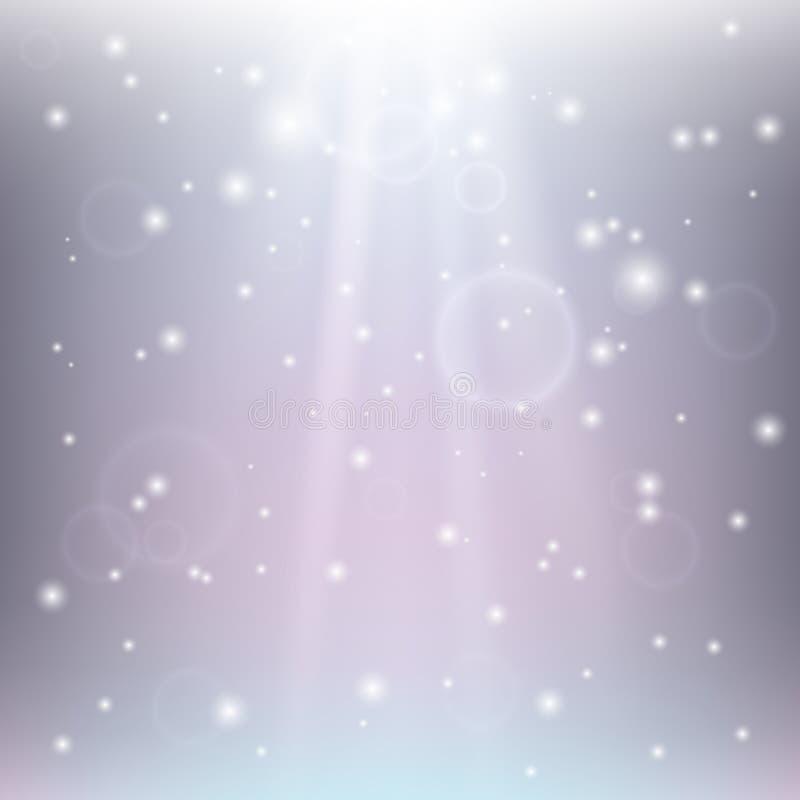 Абстрактная предпосылка с лучами и bokeh, светами и пятнами бесплатная иллюстрация