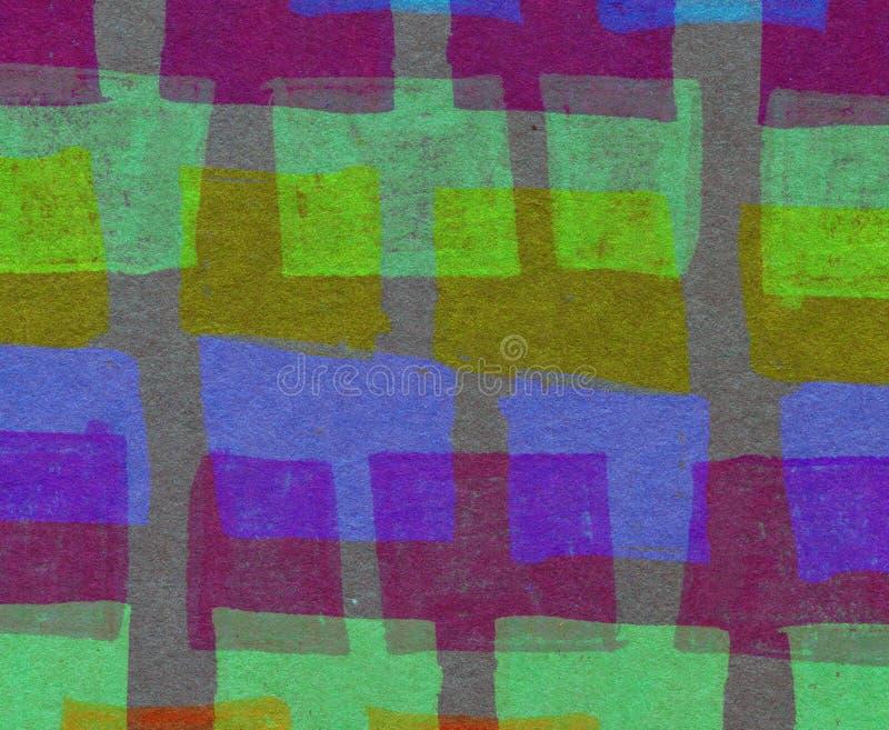Абстрактная предпосылка с цветастыми прямоугольниками стоковая фотография