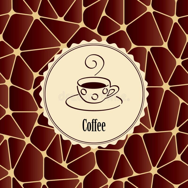 Абстрактная предпосылка с элементом дизайна - чашкой кофе иллюстрация штока