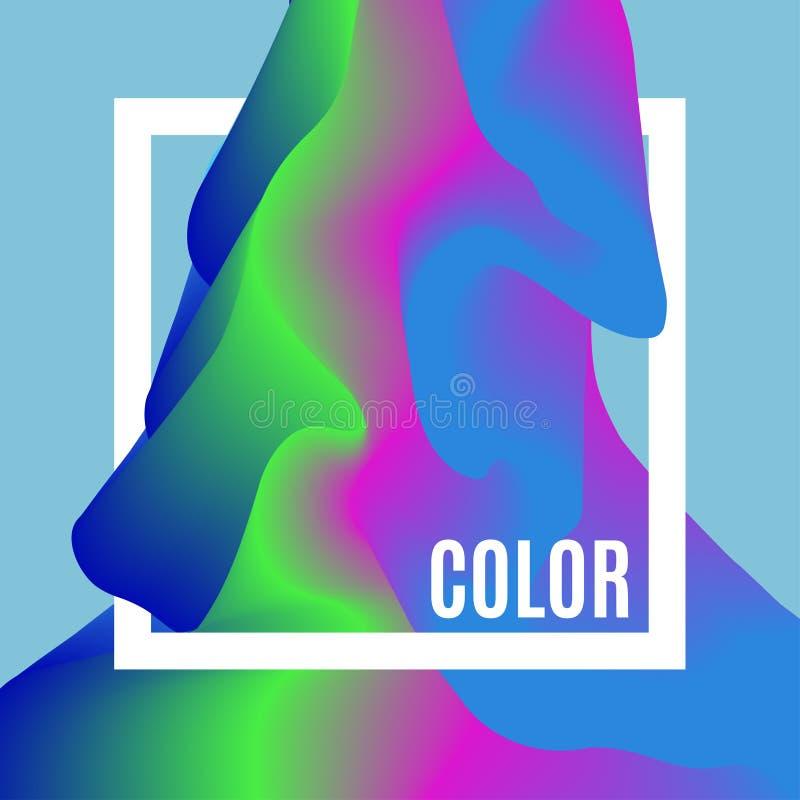 Абстрактная предпосылка творческих способностей дизайна волн цвета Рамка с космосом для текста Ровная волна цвета Покрашенная тек иллюстрация вектора