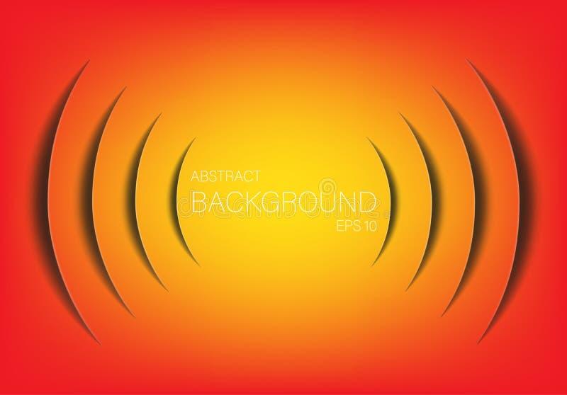 Абстрактная предпосылка технологии звуковой войны Элементы Infographics в форме отрезка бумаги также вектор иллюстрации притяжки  иллюстрация штока