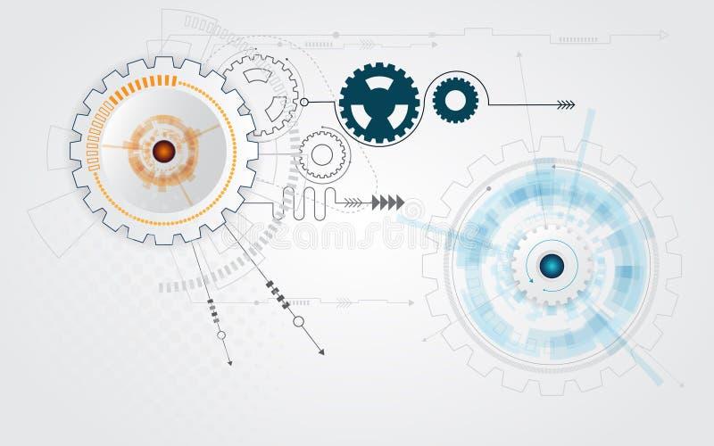 Абстрактная предпосылка технологии колеса шестерни cog бесплатная иллюстрация