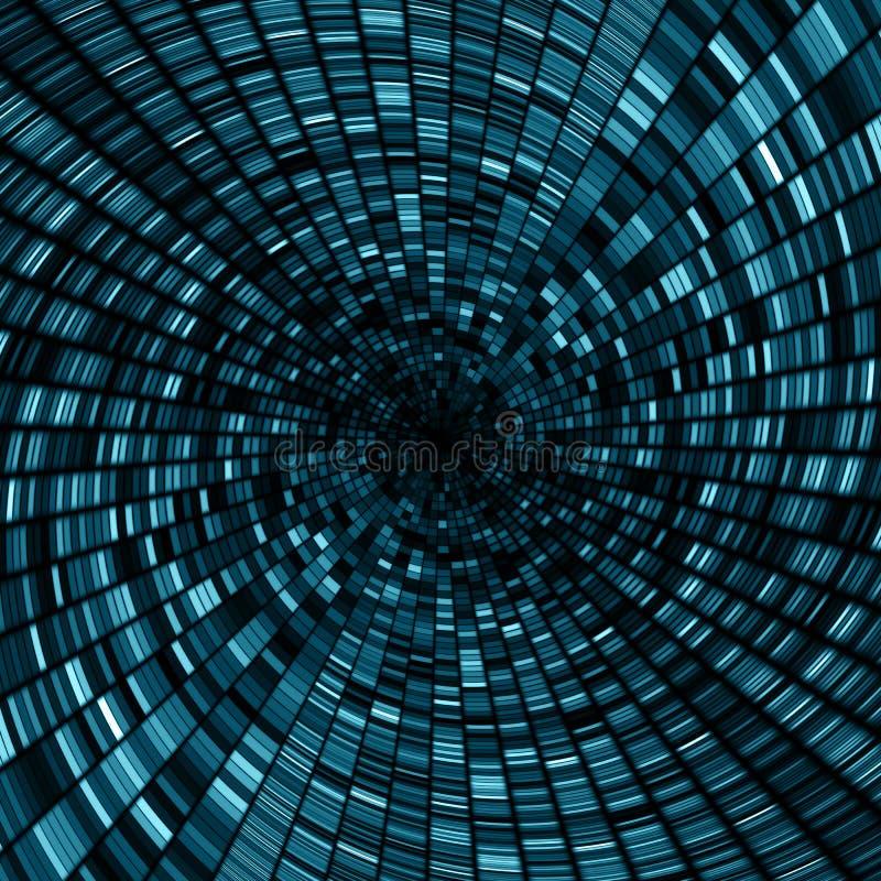 Абстрактная предпосылка тоннеля круга бесплатная иллюстрация