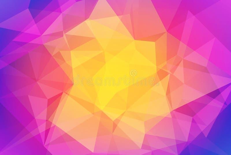 Абстрактная предпосылка треугольника градиента бесплатная иллюстрация