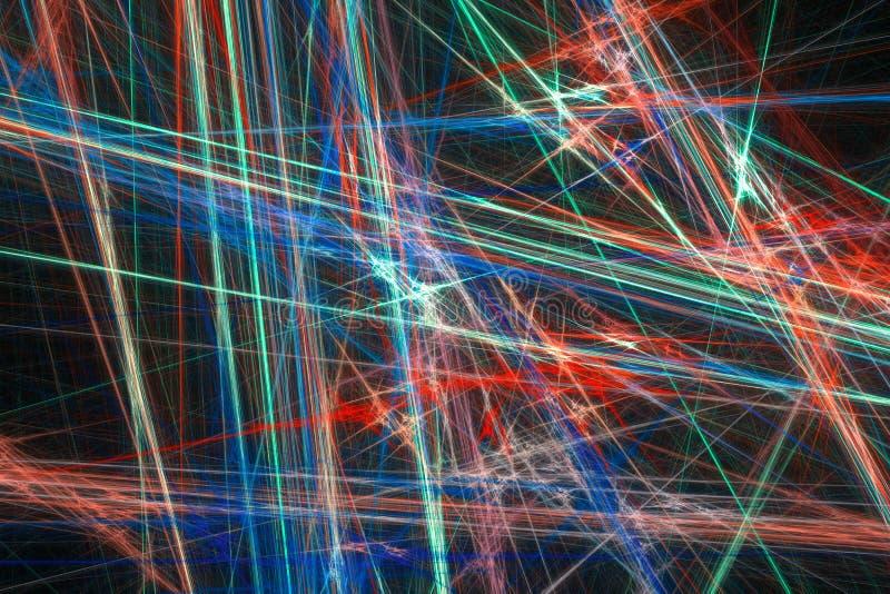 Абстрактная предпосылка фрактали с различным цветом бесплатная иллюстрация