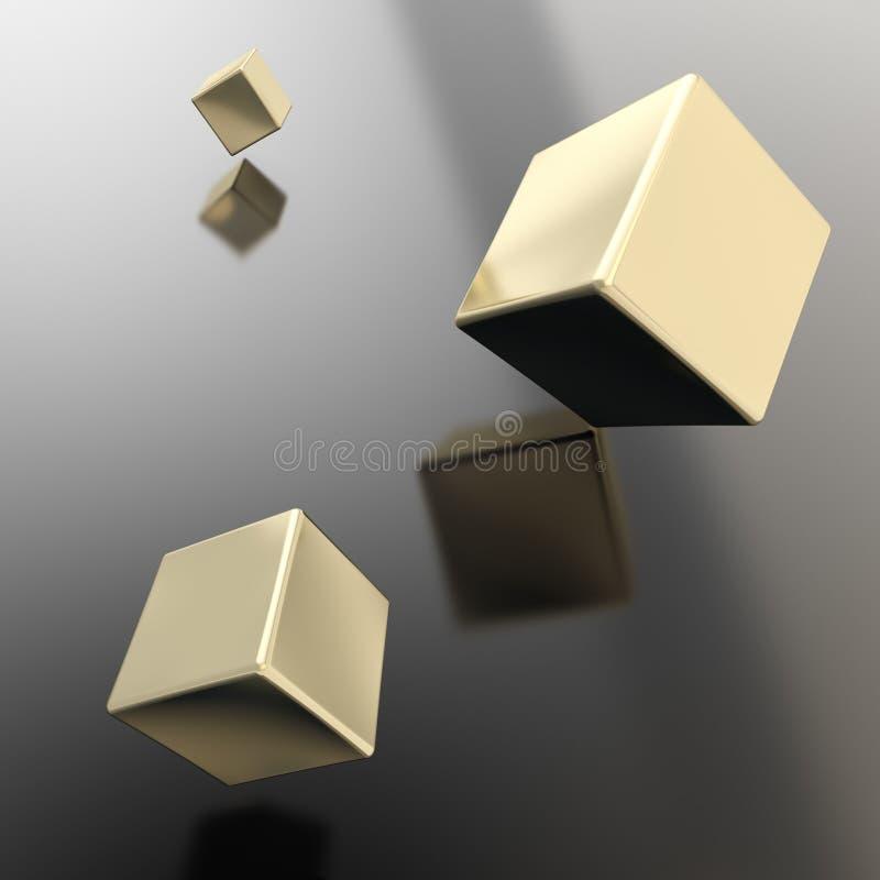 Абстрактная предпосылка copyspace кубов над поверхностью иллюстрация штока