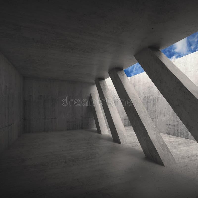 Абстрактная предпосылка 3 d архитектуры иллюстрация вектора