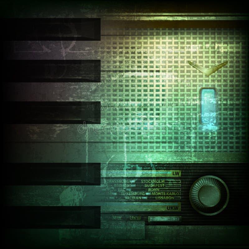 Абстрактная предпосылка grunge с ретро радио бесплатная иллюстрация