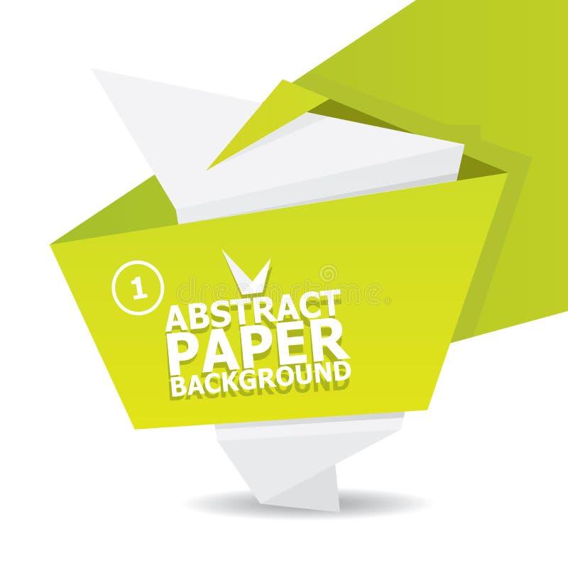 Абстрактная предпосылка origami белизны и зеленой книги. стоковые фото