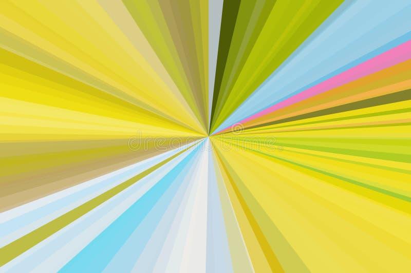 Абстрактная природа излучает предпосылку Красочная конфигурация пучка излучения нашивок Цвета тенденции стильной иллюстрации совр стоковые изображения rf