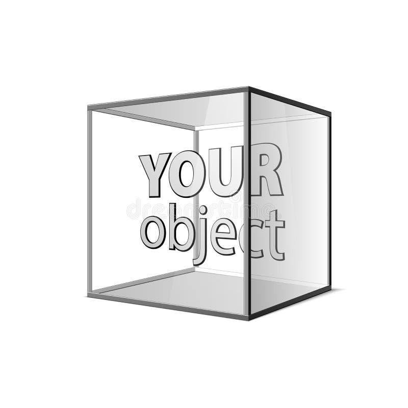Абстрактная прозрачная коробка на серой предпосылке 10 eps ваш объект иллюстрация вектора